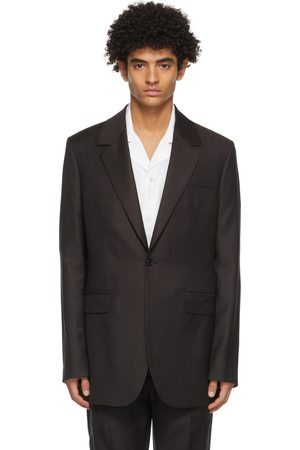 Acne Studios Burgundy Wool Slim Suit Blazer
