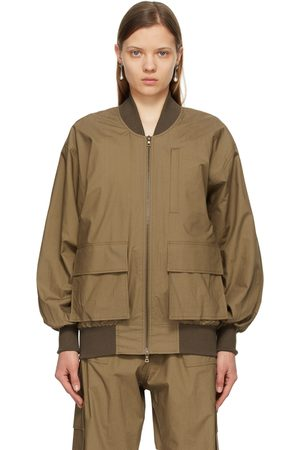 Julia Jentzsch Brown Ziggy Bomber Jacket