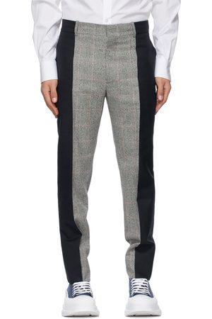 Alexander McQueen Grey & Wool Paneled Trousers