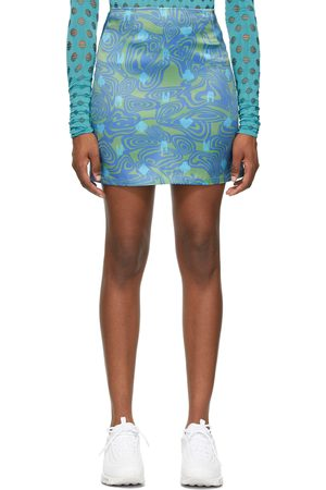 Maisie Wilen Green & Blue Dial-Up Skirt