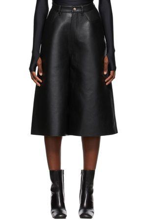 Balenciaga Leather Cropped Pants