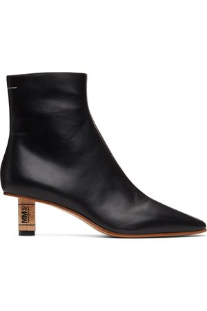 MM6 Maison Margiela Cork Heeled Ankle Boots