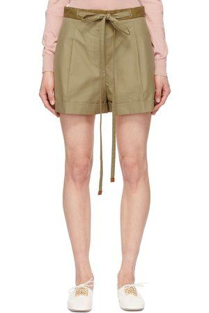 Loewe Beige Cotton Belted Shorts