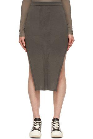 Rick Owens Grey Merino Sacri Skirt