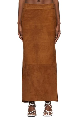 Khaite Tan Suede 'The Myla' Skirt