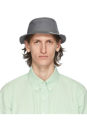 Thom Browne Grey 4-Bar Classic Bucket Hat