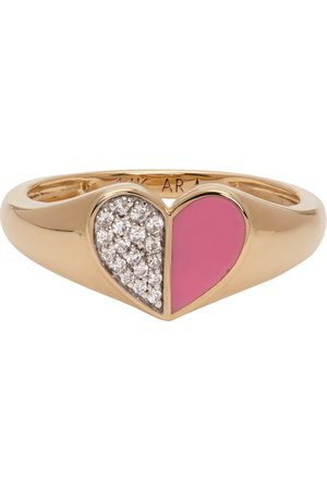 Adina Reyter & Ceramic Pavé Folded Heart Ring