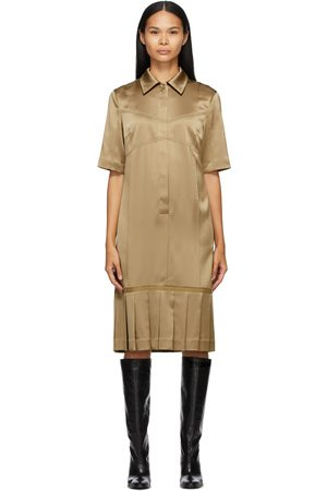 Commission SSENSE Exclusive Tan Bralette Shirt Dress