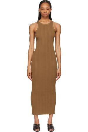 Totême Brown Rib Knit Tank Dress