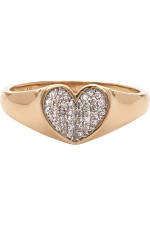Adina Reyter Diamond Pavé Folded Heart Ring