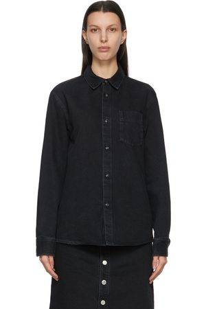 A.P.C. Black Denim Victor Over Shirt