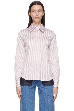 Victoria Beckham Stripe Club Collar Shirt