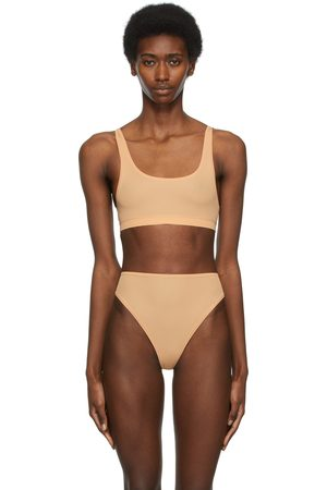 SKIMS Beige Jelly Sheer Scoop Neck Bralette
