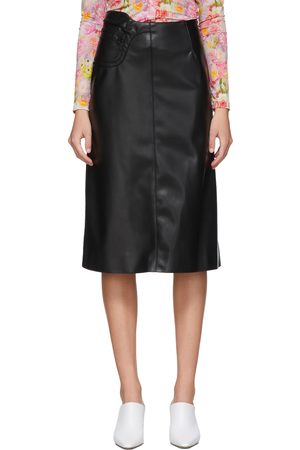 Commission SSENSE Exclusive Faux-Leather A-Line Skirt