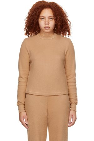 SKIMS Tan Waffle Long Sleeve T-Shirt