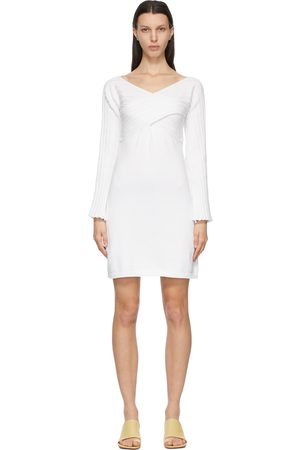MM6 Maison Margiela White Twist Sweater Dress