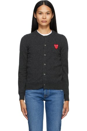Comme des Garçons Play Wool Layered Double Heart Cardigan