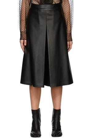 Maison Margiela Faux-Leather Pleat Shorts