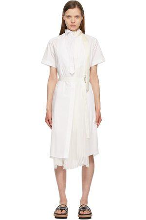 Sacai Poplin Pleated Dress