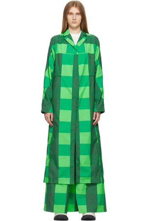 Sunnei Check Long Coat