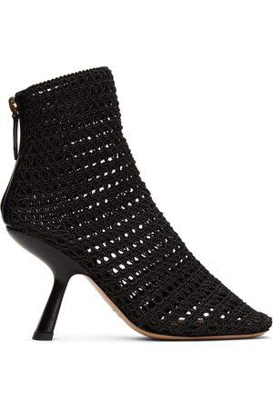 Nicholas Kirkwood Black Alba Macramé Ankle Boots