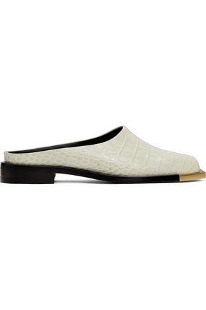 Peter Do Off- Croc Metal Square Toe Loafers