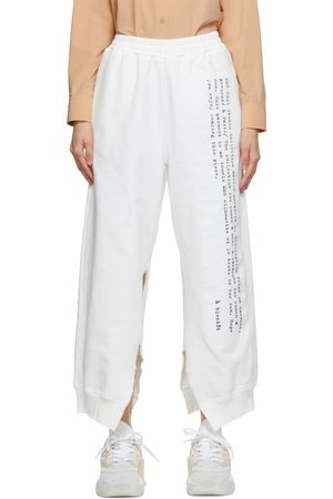MM6 Maison Margiela Text Graphic Split Lounge Pants