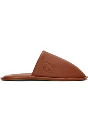 Loewe Brown Logo Slippers