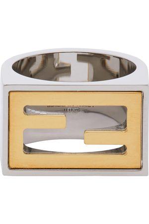 Fendi Silver & Gold 'Forever Fendi' Signet Ring