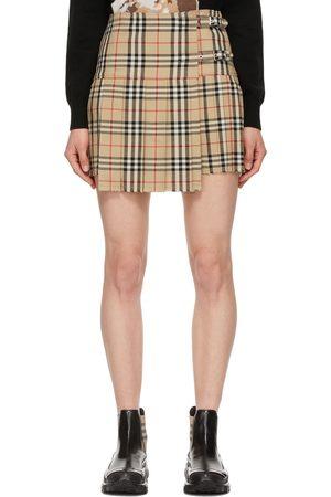 Burberry Beige Vintage Check Zoe Skirt