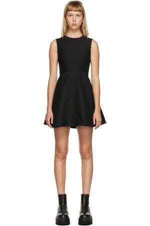 Valentino Navy Wool & Silk A-Line Dress