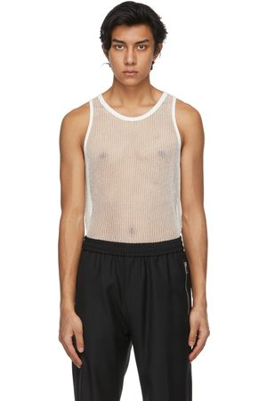 Givenchy Off- Metallized Mesh Slim Fit Tank Top