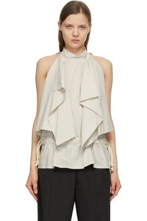 Lemaire Off-White & Grey Striped Foulard Blouse