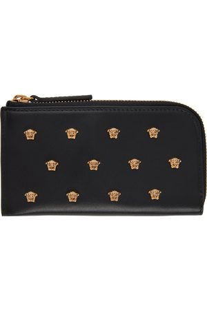 Versace All Over Medusa Stud Zip Card Holder