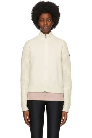 Moncler Off- Knit Zip-Up Sweater