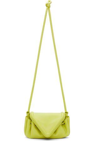 Bottega Veneta Yellow V-Flap Clutch