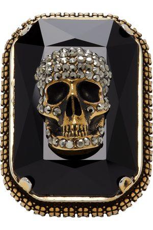 Alexander McQueen Gold Jewelled Skull Ring