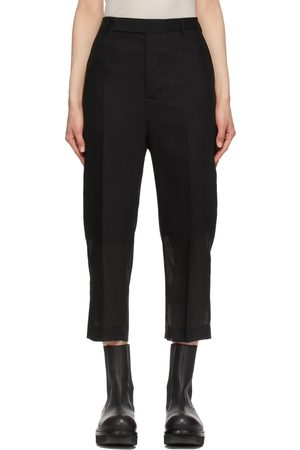 Rick Owens Wool Cropped Astaire Trousers