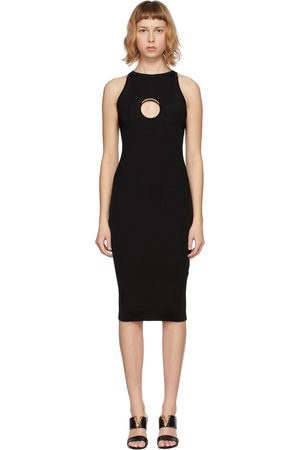 Versace Black Knit Ring Hardware Dress
