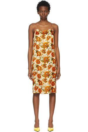 Kwaidan Editions Beige & Printed Slip Dress