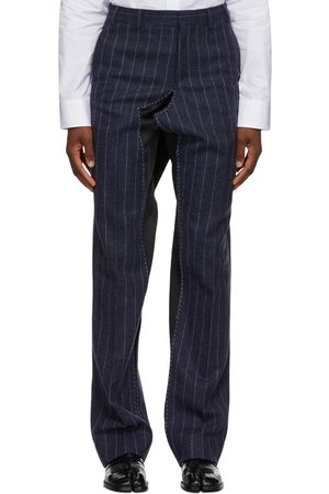 Maison Margiela Striped Deconstructed Trousers