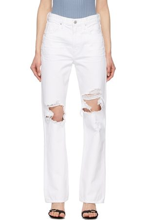 Citizens of Humanity White Libby Relaxed Bootcut Jeans