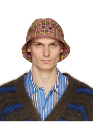 MSGM & Pink Check Print Cloche Bucket Hat