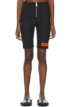 Heron Preston Wool Logo Patch Zip-Up Shorts