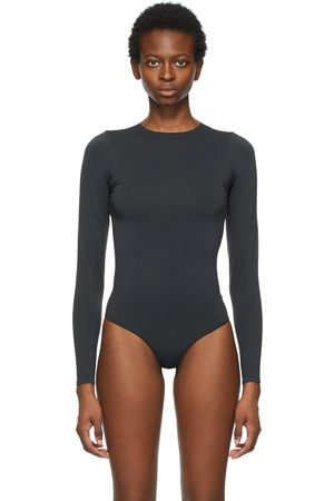 SKIMS Essential Thong Long Sleeve Bodysuit