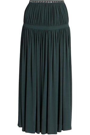 Chloé Fluid Pleated Midi Skirt