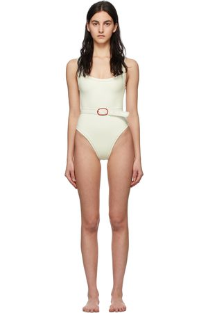 Medina Swimwear White Volley One-Piece Swimsuit