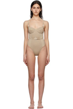 Medina Swimwear Taupe Anemona One-Piece Swimsuit