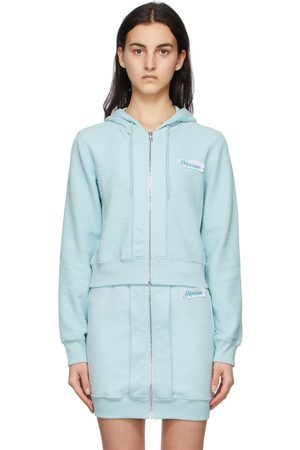 Moschino Inside Out Label Zip-Up Hoodie