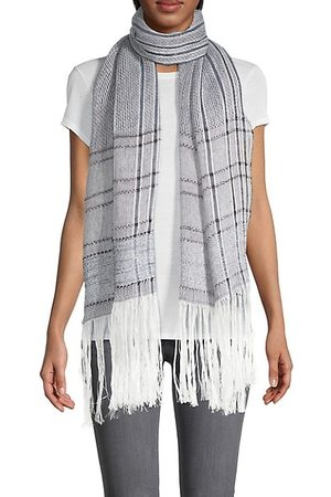 RAG&BONE Scarves - Kara Playa Striped Linen-Blend Scarf